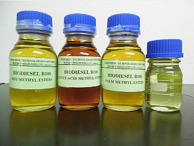 Biodiesel from different grades of oil
