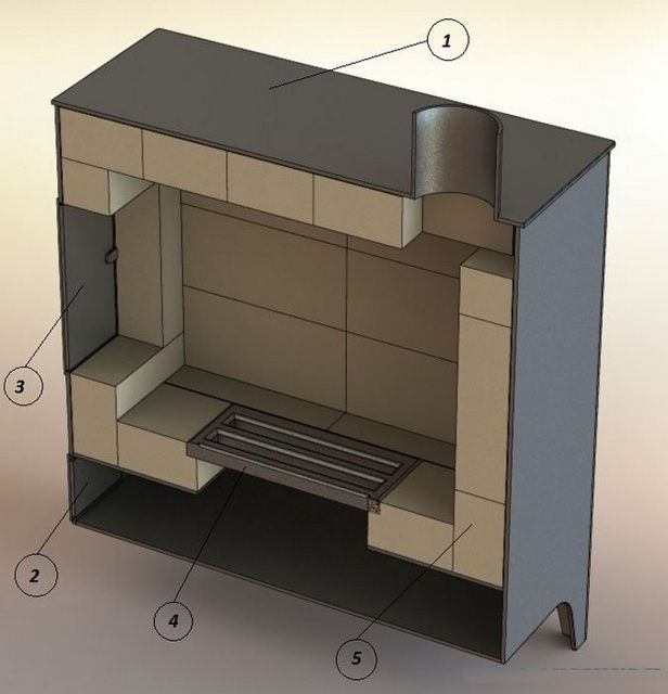 The stove in the section - it is easier to properly understand its device