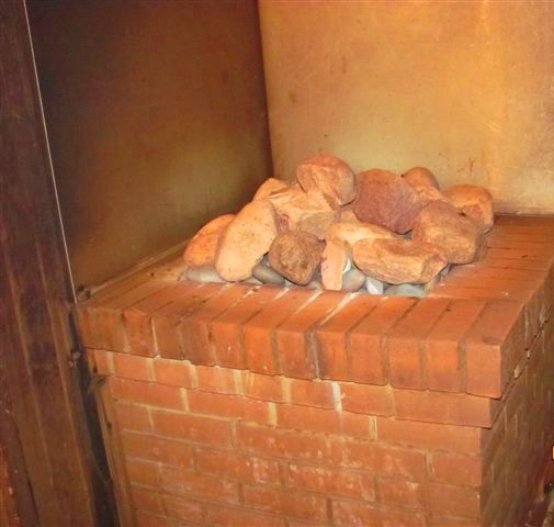 Brick oven for baths
