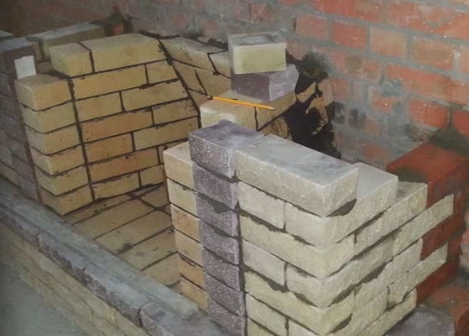 Masonry fireplace , step by step guide