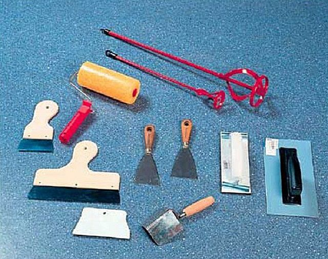 The basic tools for finishing works