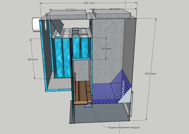 Example of 3D design visualization pyrolysis boiler