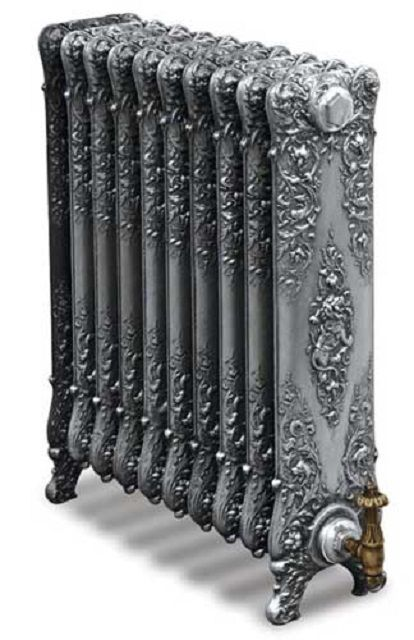 Cast iron radiators can be mounted on legs ...