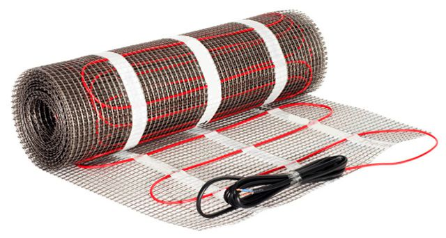 Heating mats on the polymer network facilitate the process of laying