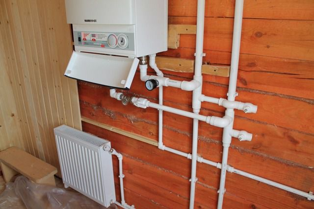 Water heating with electric boiler