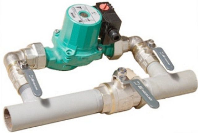 crane system allows the pump to switch from forced circulation to natural