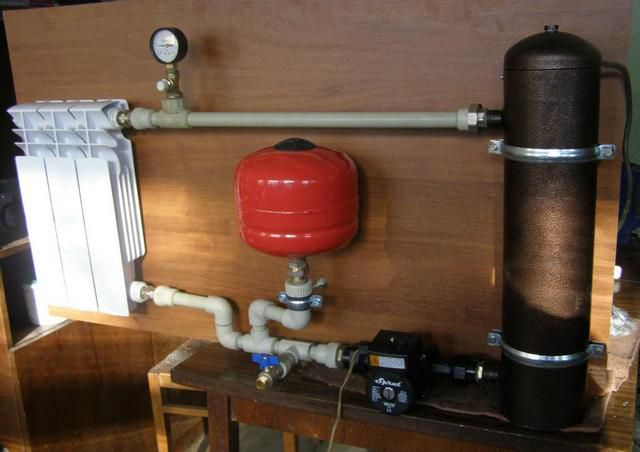 Induction boiler - unpretentious and very economical
