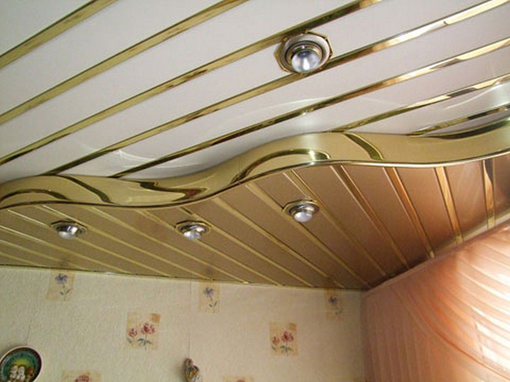 Rack suspended ceilings in the kitchen