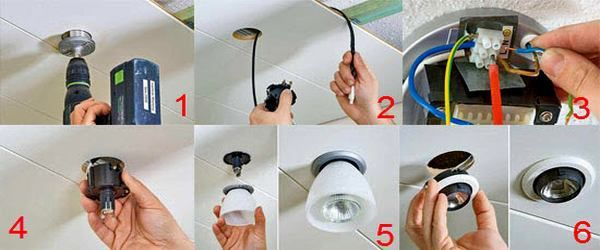 Installing lighting fixtures
