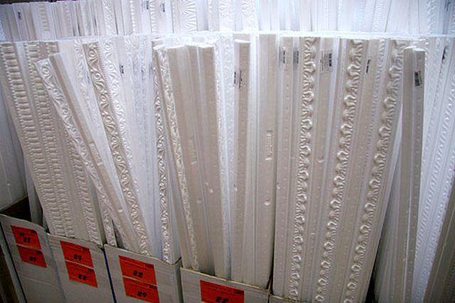 Foam polystyrene skirting presented commercially in a wide variety