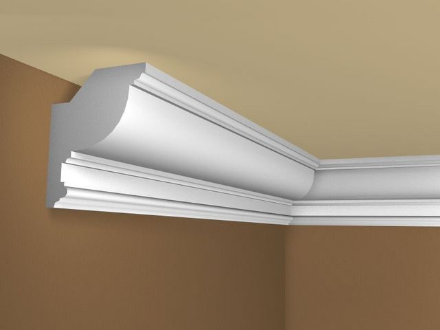 If the ceiling is made normal , the baseboard must be tightly pressed against the two planes