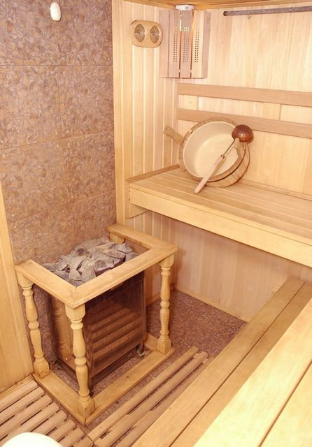 Sauna involves the use of a hot dry steam