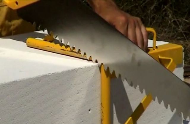 Foam concrete is easy to process