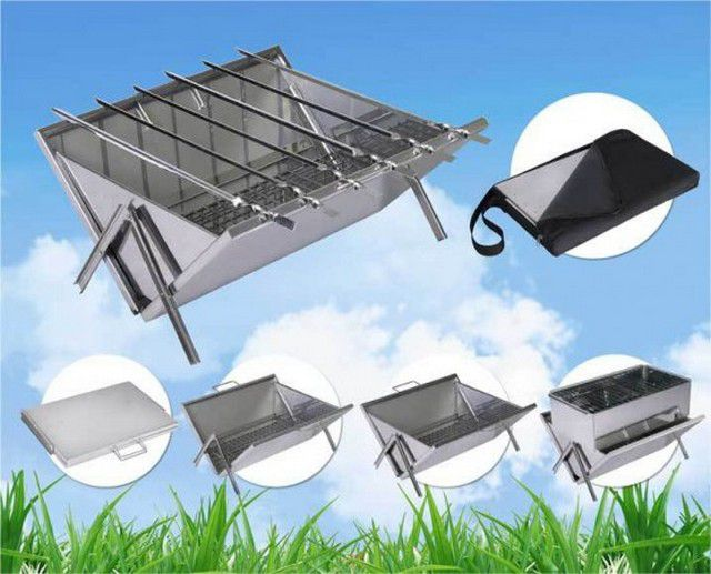 Not difficult to manufacture folding BBQ