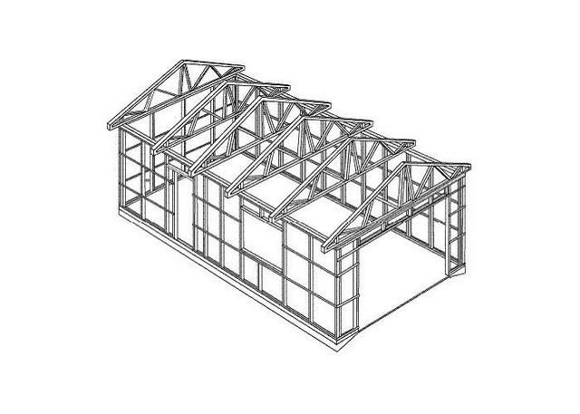 An exemplary diagram of the frame of the garage