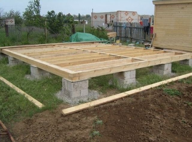 Supporting floor joists of the bar foundation
