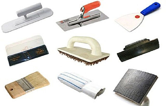 Tools for working on plaster relief technology