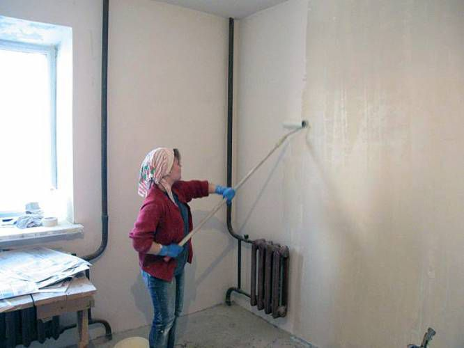 Priming the walls