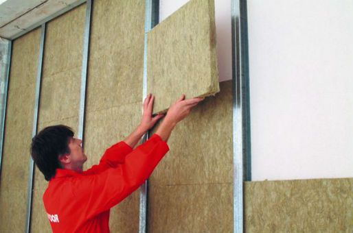 Fill the free space of a selected frame noise insulation materials