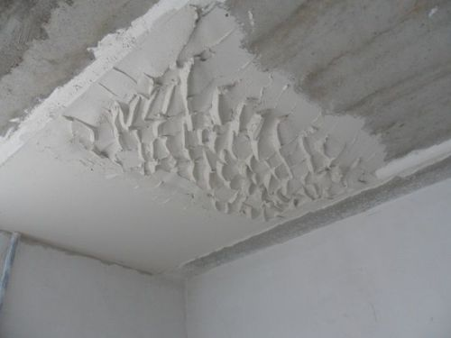 As a plaster ceiling