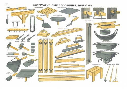 Tools, fittings , equipment for plaster works
