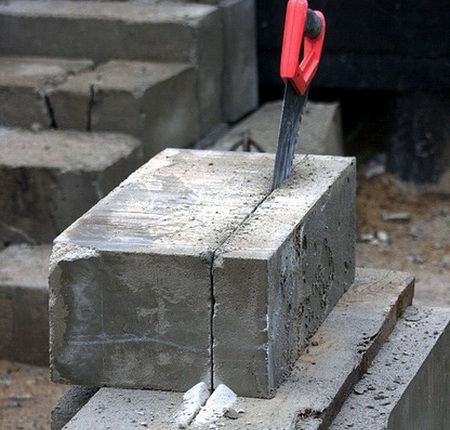 cutting foam block