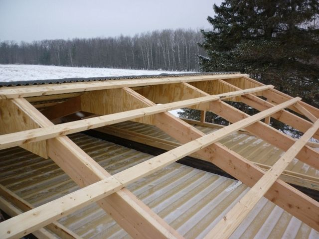 Crate according to the rafters for further work with the roofing material