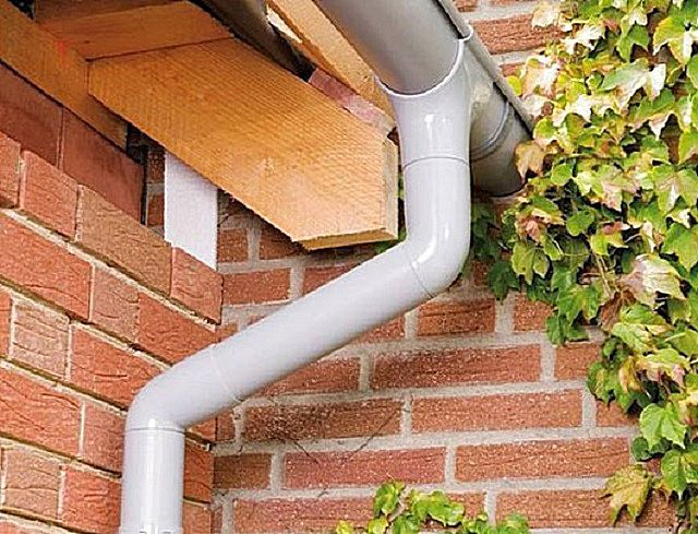 Very broad popular plastic gutter systems