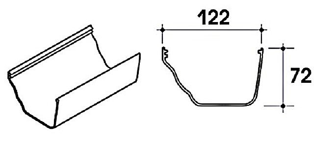 The box gutter can also be made ​​independently , based on these dimensions