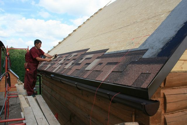Laying soft roof - shingles