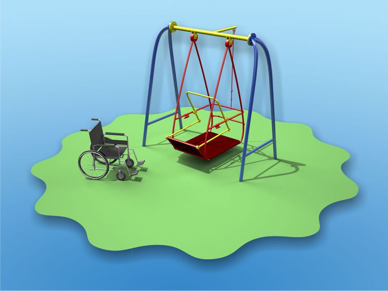 Swing for children with disabilities