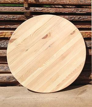 The table top made ​​of pine