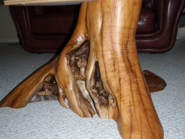 lacquered stump