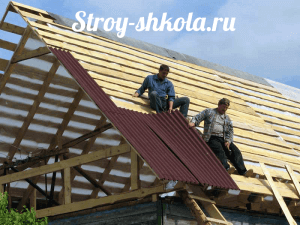 Roofing of Ondulin own hands