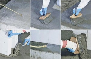 Processing slabs solution impregnating waterproofing