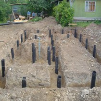 Construction of pile foundation with grillage