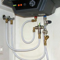 Koble til varmtvannsbereder selv