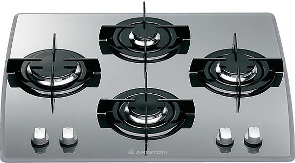 The hob is made ​​of tempered glass