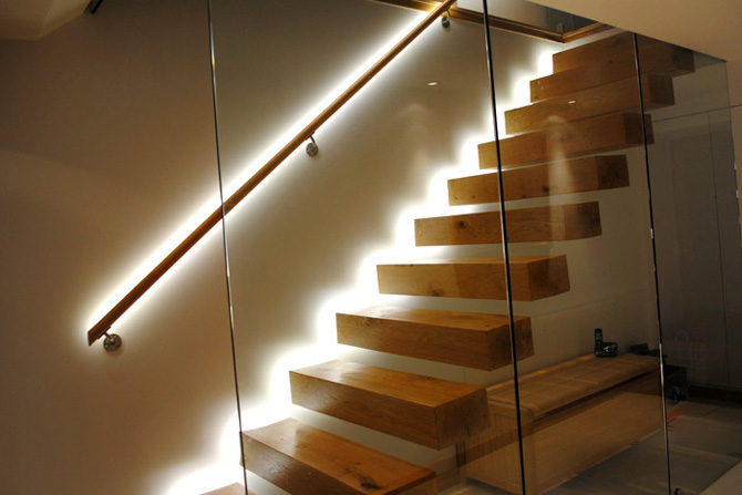 LED strip lighting for the stairs