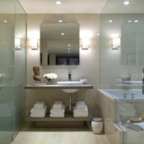 Varieties glass door shower , bath and toilet