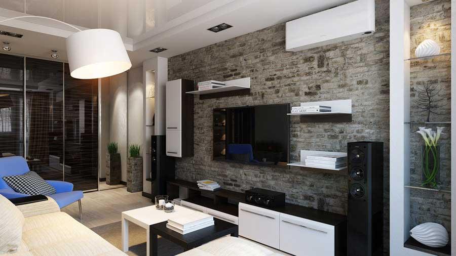 Progettazione soggiorno di 16 metri quadrati m una for Interni minimalisti