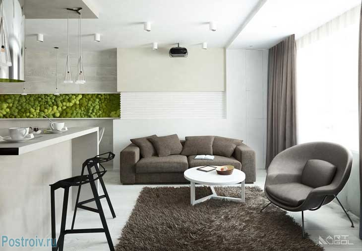 Modern renovated 3 - room apartment in Moscow .A photo