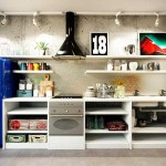 Interior 3 -room apartment in a loft style.The kitchen area .A photo
