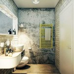 Decorating the bathroom white decorative brick .A photo