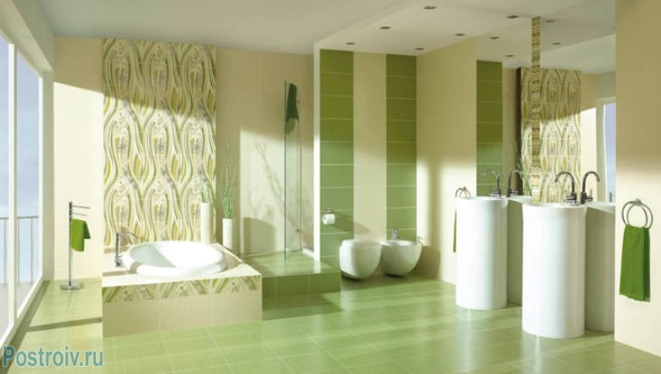 design - bathroom - room - in - green - tonah8