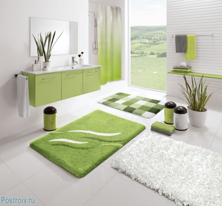 design - bathroom - room - in - green - tonah10