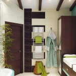 Beautiful design corner bathroom .A photo