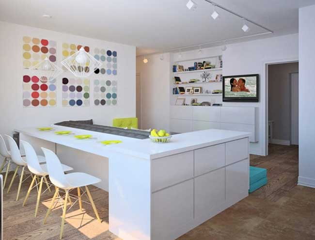 Scandinavische stijl keuken woonkamer.budget optie woonkamer ...