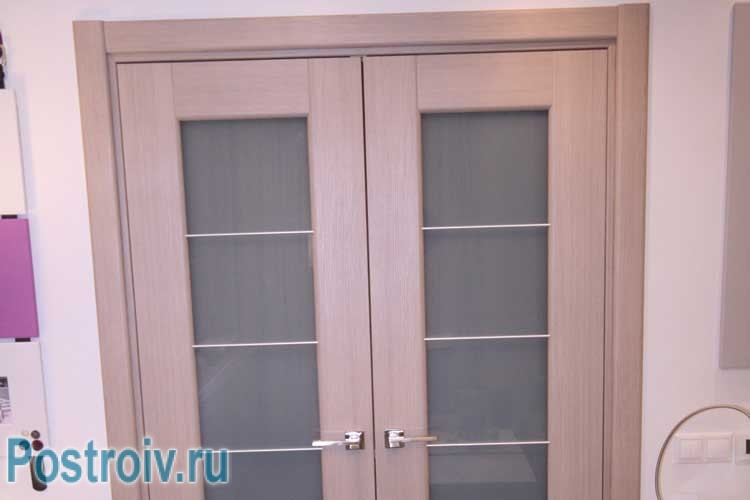 Bright double door with glass