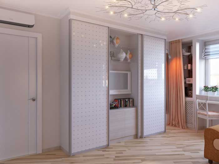 Design project of 16-18 square meters living area .m . Light colors .Picture 4